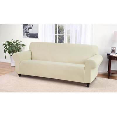 Day Break Box Cushion Sofa Slipcover Upholstery: Cream