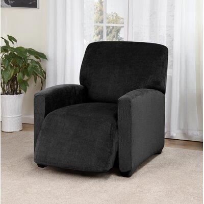 Day Break Box Cushion Recliner Slipcover Upholstery: Black