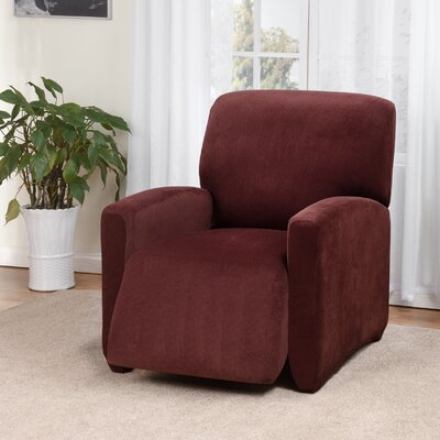 Day Break Box Cushion Recliner Slipcover Upholstery: Burgundy
