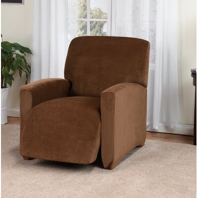 Day Break Box Cushion Recliner Slipcover Upholstery: Chestnut