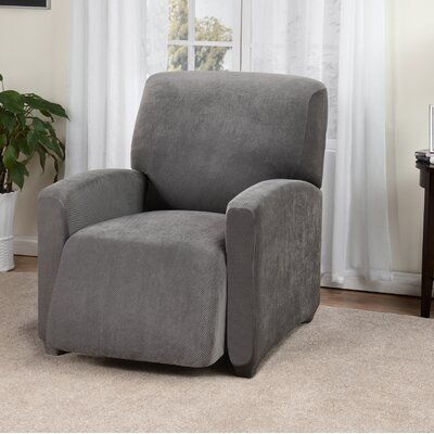 Day Break Box Cushion Recliner Slipcover Upholstery: Charcoal