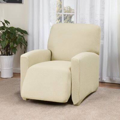 Day Break Box Cushion Recliner Slipcover Upholstery: Cream