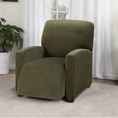 Day Break Box Cushion Recliner Slipcover Upholstery: Forest