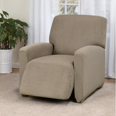 Day Break Box Cushion Recliner Slipcover Upholstery: Linen