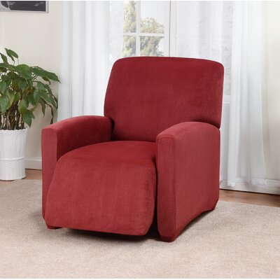 Day Break Box Cushion Recliner Slipcover Upholstery: Paprika