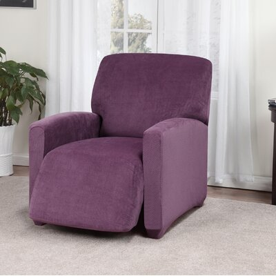 Day Break Box Cushion Recliner Slipcover Upholstery: Purple
