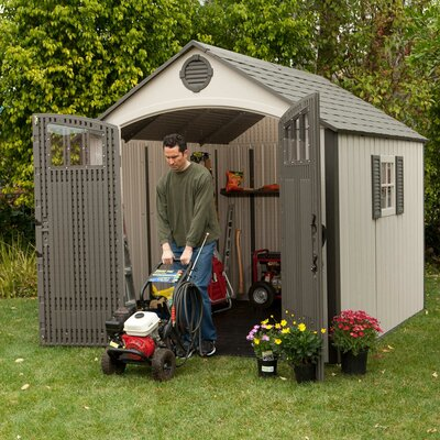 Lifetime Premium Plastic Garden Shed at Sears.com