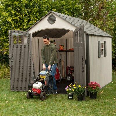 premium plastic garden shed