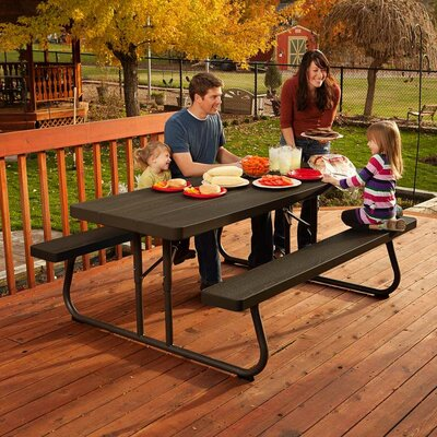 6 Picnic Table Finish: Brown