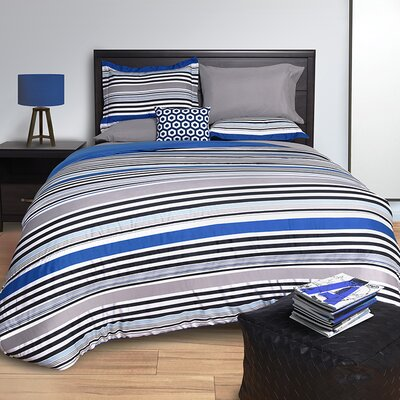 Stripe Bed in a Bag Set Size: Queen