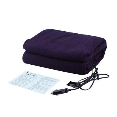 12V Heated Travel Fleece Throw Blanket