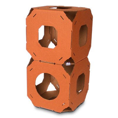 15 Catty Stacks Modular Cat Condo Color: Brown