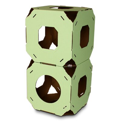 15 Catty Stacks Modular Cat Condo Color: Green