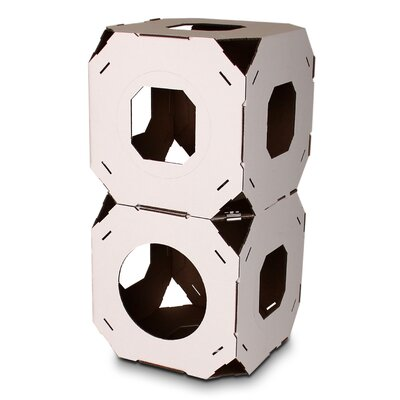15 Catty Stacks Modular Cat Condo Color: White