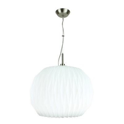 Orygami 1-Light Globe Pendant