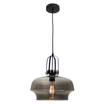 NY Industrial 1-Light Mini Pendant Shade Color: Amber
