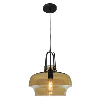 NY Industrial 1-Light Mini Pendant Shade Color: Smokey