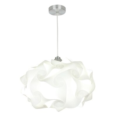 Cloud Polylight 1-Light Geometric Pendant Size: 13 H x 20 W x 20 D
