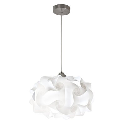 Cloud Polylight 1-Light Geometric Pendant Size: 9 H x 15 W x 15 D