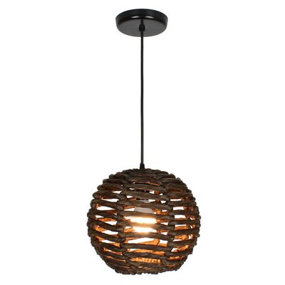 Luisa 1-Light Mini Pendant Size: 10 H x 11 W x 11 D