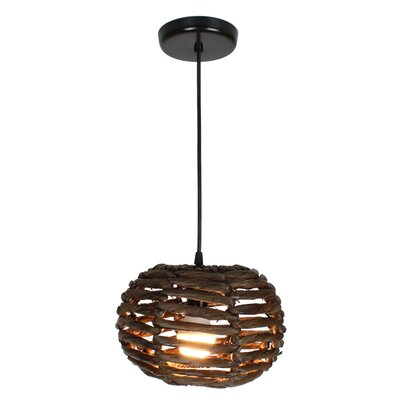 Maria 1-Light Mini Pendant Size: 7 H x 11 W x 11 D