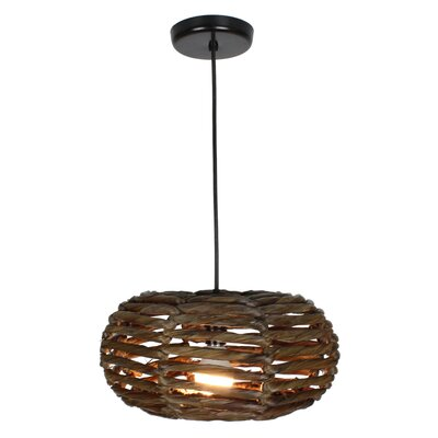 Maria 1-Light Mini Pendant Size: 7 H x 14 W x 14 D