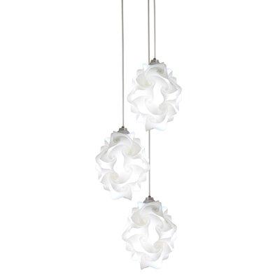 Chi Polylight 3-Light Cascade Pendant