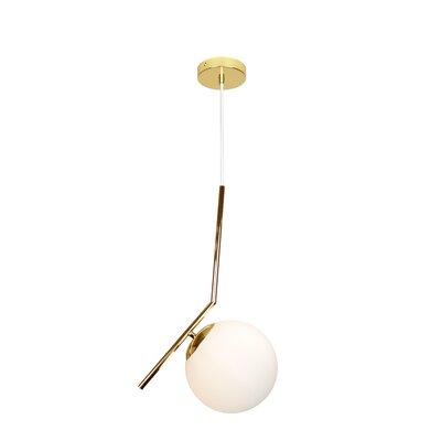 Modern Mid 1-Light Globe Pendant