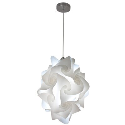 Chi Polylight 1-Light Geometric Pendant Size: 20 H x 15 W x 15 D