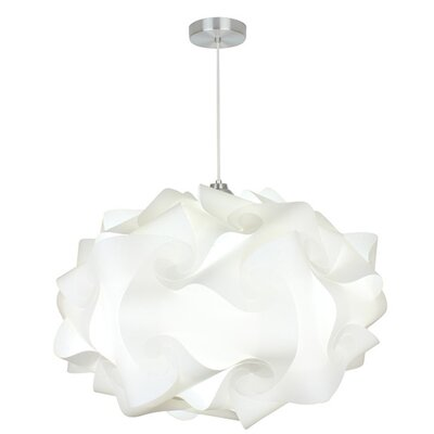 Cloud Polylight 1-Light Geometric Pendant Size: 17 H x 29 W x 29 D