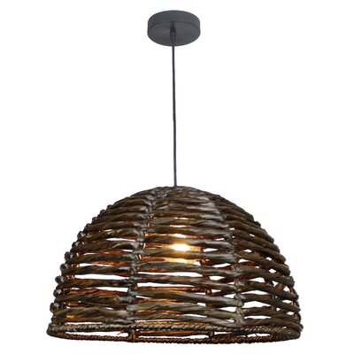 Cloudcroft Natural Tule 1-Light LED Inverted Pendant