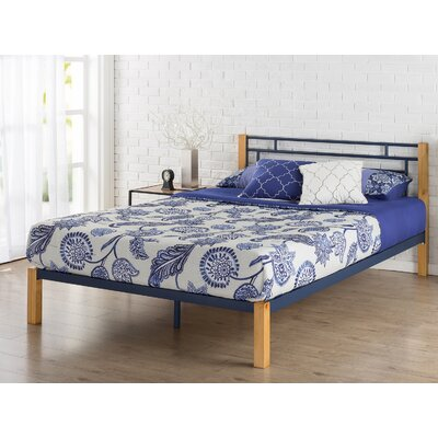 Mcguire Metal and Wood Platform Bed Size: Queen