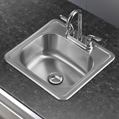 15 x 15 Single Basin Drop-In Bar Sink