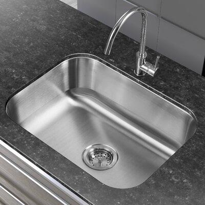 23.38 x 17.75 Single Basin Undermount Kitchen Sink