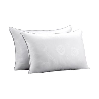 Allergen Free Rectangular Soft Gel Fiber Pillow Size: King