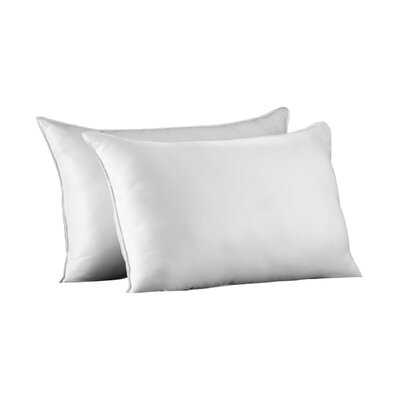 Polyester Medium Density Pillow Size: King