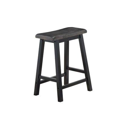 Costillo Wooden Saddle 23.5 Bar Stool (Set of 2)