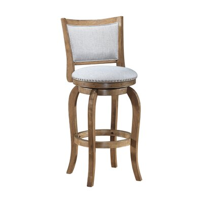 Prevost Wooden Swivel Bar Stool Size: 43 H x 21.5 W x 23 D