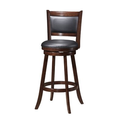 Tuthill Wooden Swivel Bar Stool Size: 38 H x 17 W x 19 D
