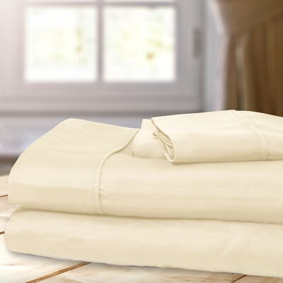 1000 Thread Count 4 Piece Sheet Set Color: Ivory, Size: King