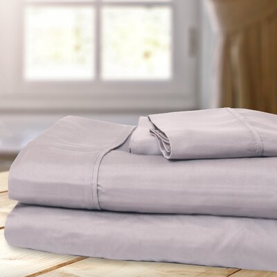 1000 Thread Count 4 Piece Sheet Set Color: Grey, Size: King