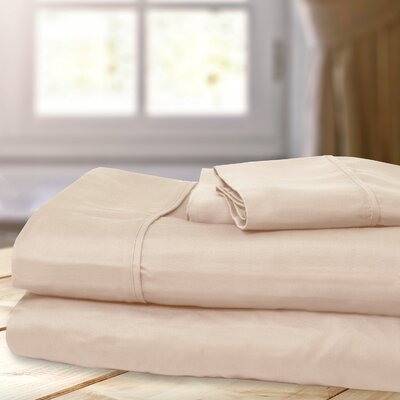 1000 Thread Count 4 Piece Sheet Set Color: Taupe, Size: Queen