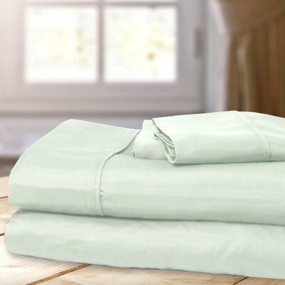 1000 Thread Count 4 Piece Sheet Set Color: Jade, Size: Full/ Double