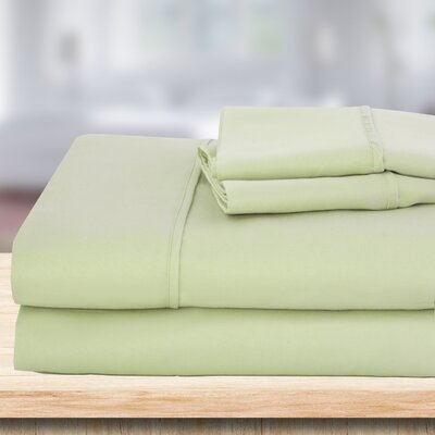 4 Piece 1500 Thread Count Sheet Set Color: Sage, Size: King