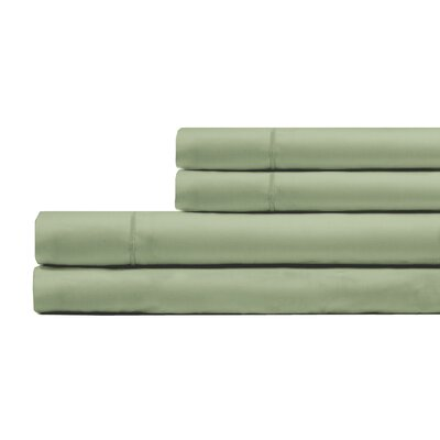 Ketchum 300 Thread Count 100% Cotton 4 Piece Sheet Set Size: King, Color: Sage