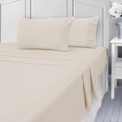 Andalusia 400 Thread Count 100% Cotton Sheet Set Size: Queen, Color: Ivory