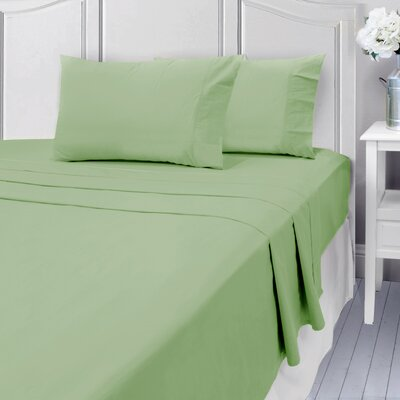 Andalusia 400 Thread Count 100% Cotton Sheet Set Size: King, Color: Sage