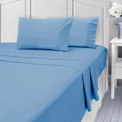 Andalusia 400 Thread Count 100% Cotton Sheet Set Size: Queen, Color: Light Blue