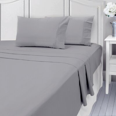 Andalusia 400 Thread Count 100% Cotton Sheet Set Size: Queen, Color: Gray