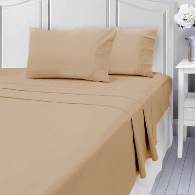 Andalusia 400 Thread Count 100% Cotton Sheet Set Size: Queen, Color: Taupe